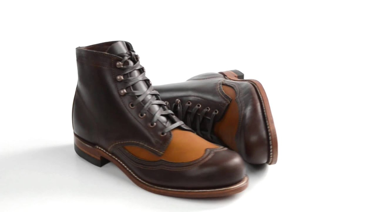 c0c7bbee319 Wolverine 1000 Mile Addison Two-Tone Wingtip Boots - Factory 2nds, Leather  (For Men)