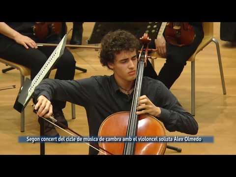 Segon concert del cicle de música de cambra amb el violoncel solista Àlex Olmedo