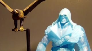 NECA SDCC 2012 EAGLE VISION EZIO AUDITORE ASSASSIN'S CREED BROTHERHOOD ACTION FIGURE REVIEW