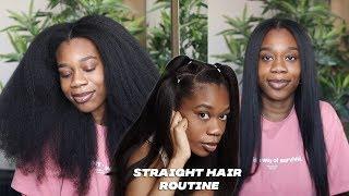 HOW I STRAIGHTEN M¥ TYPE 4 NATURAL HAIR | SILK PRESS ROUTINE