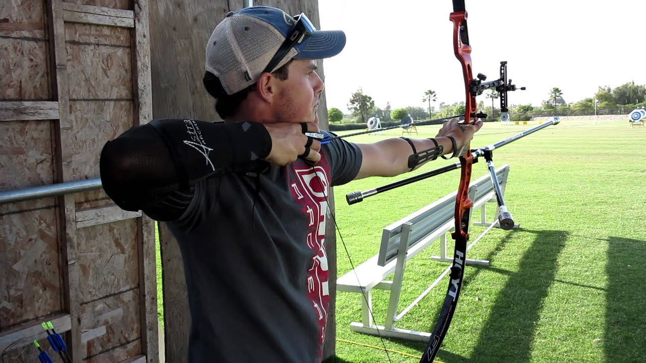 Jake Kaminski demonstrates perfect form with the Astra Archery ...