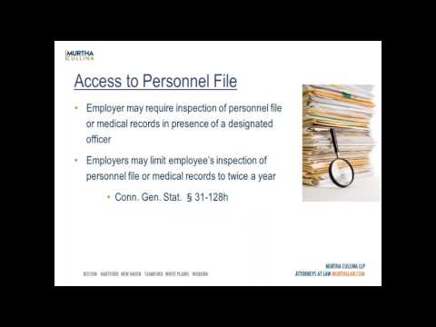 Labor and Employment Webinar: Personnel Documentation