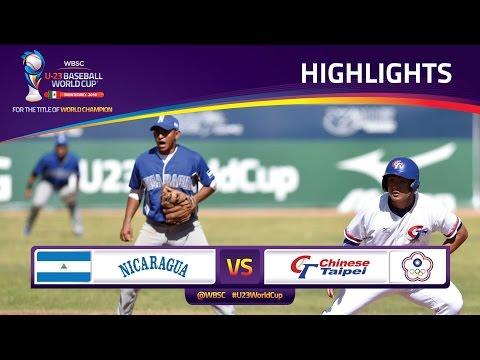 Highlights: No. 18 Nicaragua v No. 4 Chinese Taipei - U-23 Baseball World Cup 2016