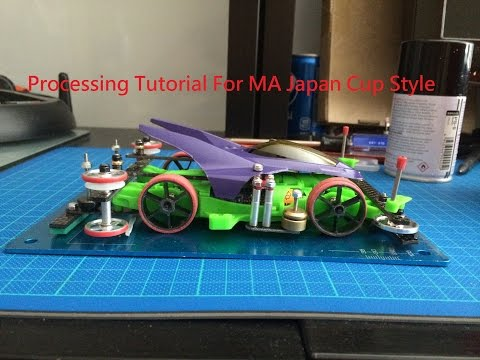 Tamiya Mini 4WD Tutorial Japan Cup Style MA chassis Body Damper system Car full Processing