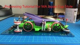 Gambar cover Tamiya Mini 4WD Tutorial Japan Cup Style MA chassis Body Damper system Car full Processing