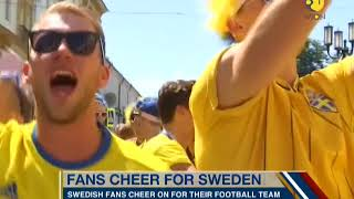 Theatre of Dreams: Swedish fans turn Russian town yellow, blue
