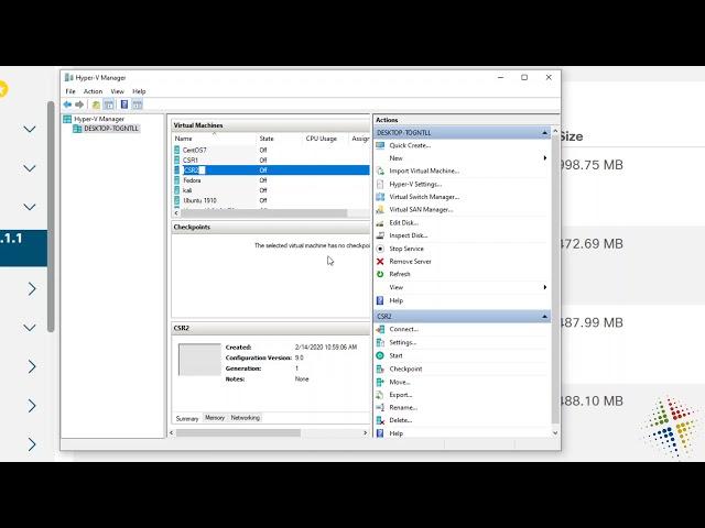 How to download and setup the Cisco CSR1000v in Hyper-V