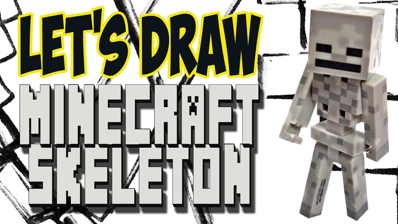 Drawing A Skeleton From Minecraft (Basic Shapes And Lines)