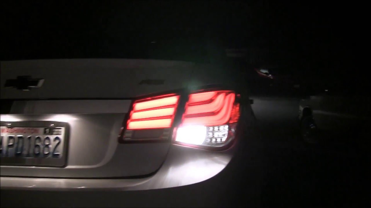 Chevy Cruze Led Tail Lights At Night Youtube