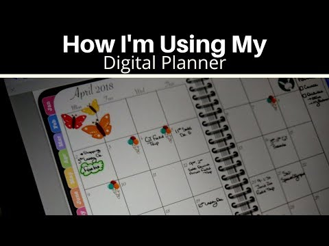 How I'm Using My Digital Planner - The iPad Pro and GoodNotes