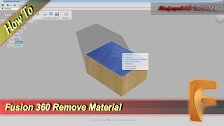 Fusion 360 Remove Or Unlink Material Tutorial
