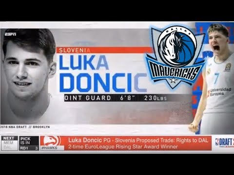 LUKA DONCIC TO THE MAVS! - 2018 NBA Draft