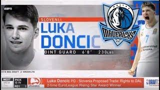 LUKA DONCIC TO THE MAVS! - 2018 NBA Draft