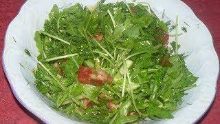 Легкий летний салат с рукколой.