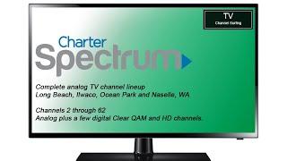 TV Channel Lineup: Charter Spectrum, Long Beach, WA (Analog)