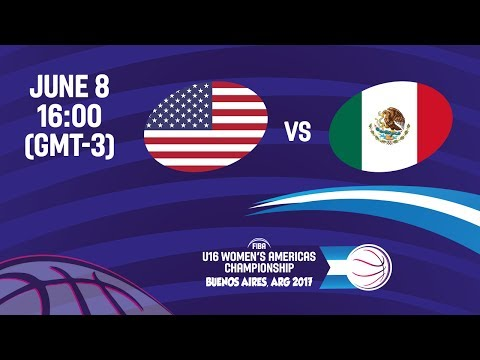 United States vs Mexico - Group B - FIBA U16 Women's Americas Championship