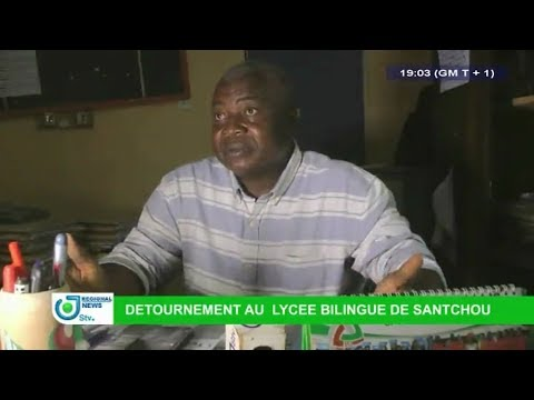 STV 07.00 PM REGIONAL BILINGUAL NEWS -(DÉTOURNEMENT au LYCÉE BILINGUE de SANTCHOU)- 22nd April 2018