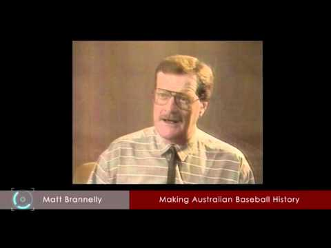 Matt  Brannelly  interview with Rod Tiley Channel 7 discussing the Australian Baseball League
