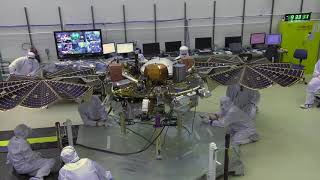 Тест солнечных панелей марсианского посадочного аппарата InSight