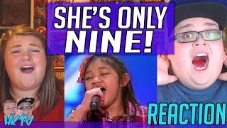 Angelica Hale: 9-Year-Old Singer Stuns the Crowd With Her Powerful Voice - AGT REACTION!! 🔥