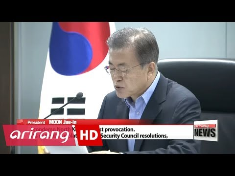 President Moon calls for 'strongest possible' response to North Korea's nuclear test