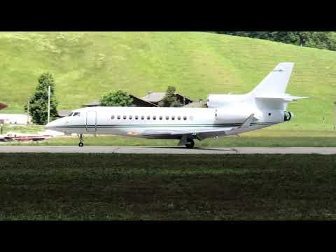 🛩 Beautiful Dassault Falcon 7X private jet landing in Gstaad Airport Switzerland🇨🇭