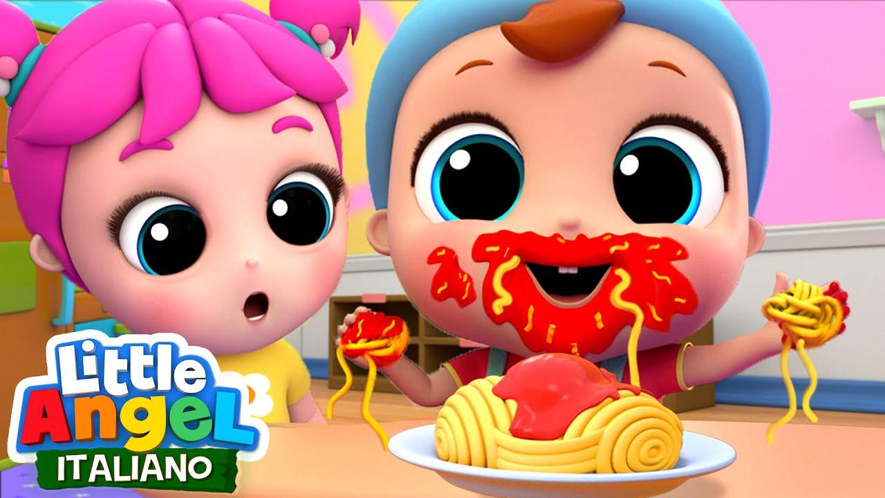 Download Mi piace tanto mangiare la pasta!   Impariamo le buone maniere a tavola   Little Angel Italiano
