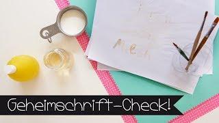 Geheimschrift-Check |Welche Schrift funktioniert am besten? | Geheime Botschaft