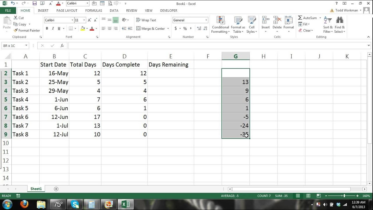 How to make a gantt chart microsoft excel 2013 tutorial 1 how to make a gantt chart microsoft excel 2013 tutorial 1 automated progress youtube nvjuhfo Choice Image