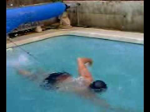 Iguana nadando en mi piscina doovi for Piscina pequena bebe