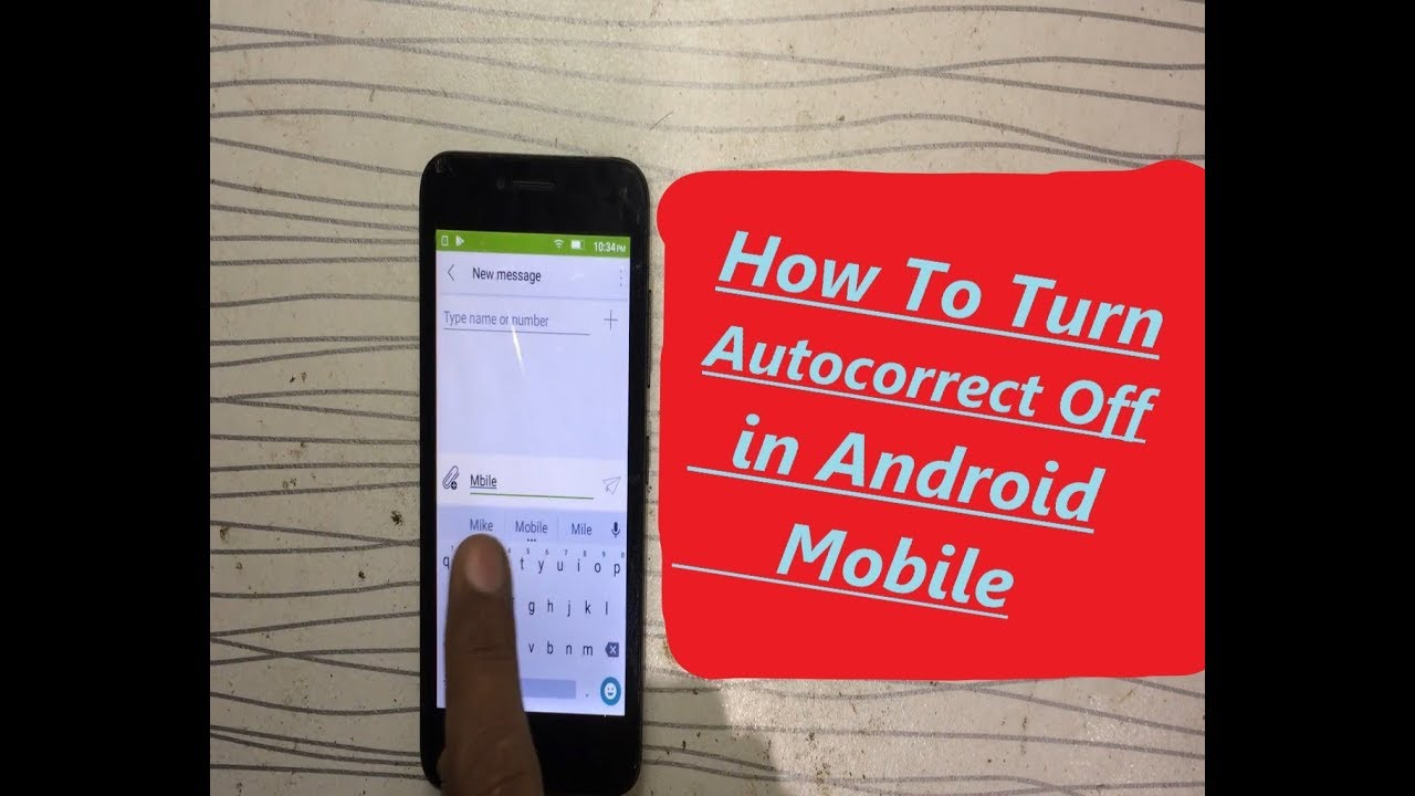 (4K) How to Turn Autocorrect Off Android Predictive Taxt | Lenovo A2016a40