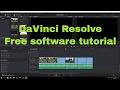 Blackmagic DaVinci Resolve: free video editing software basic tutorial for YouTube