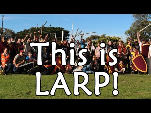 This is LARP (Live Action Role-Playing)