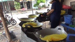 Bánh xèo đổ bằng chảo nhôm máy bay cực ngon kênh 7 An Giang/food vietnam