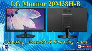 LG Monitor 20M38H UNBOXING , ASSEMBLY & REMOVING STAND