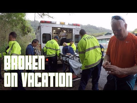 WOMAN BREAKS ANKLE HIKING IN HAWAII | RESCUED BY STRANGERS | PARAMEDICS CALLED