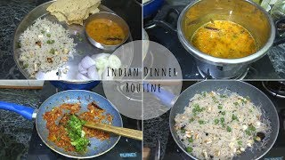 Dinner Routine || How to make a perfect Dinner THALI || Indian Dinner routine 2018 ||