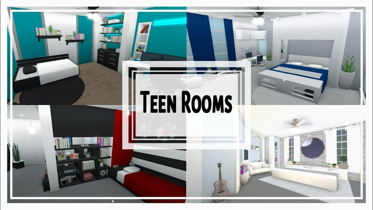 Bloxburg Room Style Build | Themed Teen Rooms - YouTube