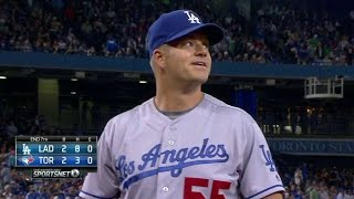 LAD@TOR: Blanton gets out of bases-loaded jam