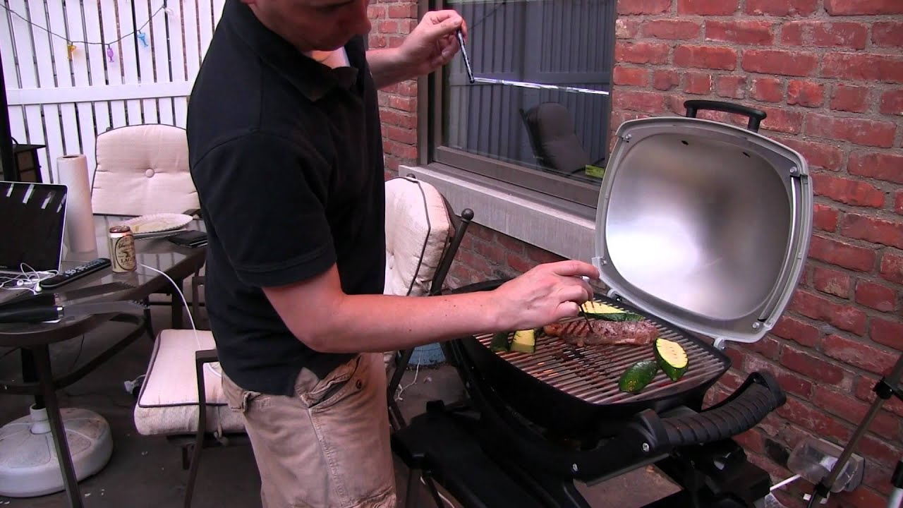 Weber Elektrogrill Q 1400 Vs 2400 : Weber q electric grill demo and review youtube