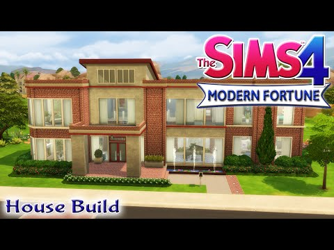 The Sims 4 House Build - Modern Fortune Family Home With Pool