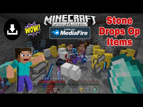 Minecraft But Stone Drops Op Items Mod Download In Bedrock MCPE
