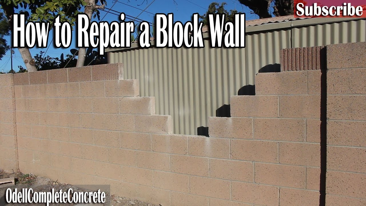 How to repair a block wall easy fixes diy youtube how to repair a block wall easy fixes diy solutioingenieria Image collections