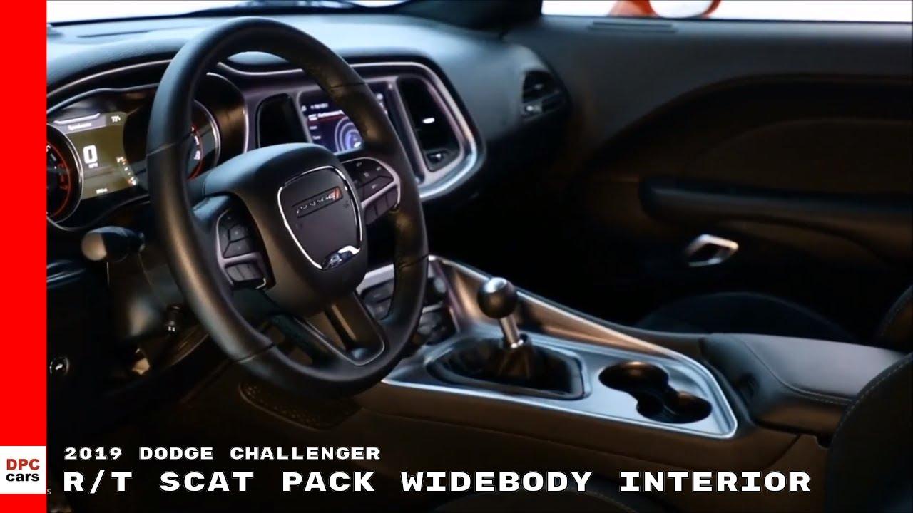 2019 Dodge Challenger Rt Scat Pack Widebody Interior Youtube