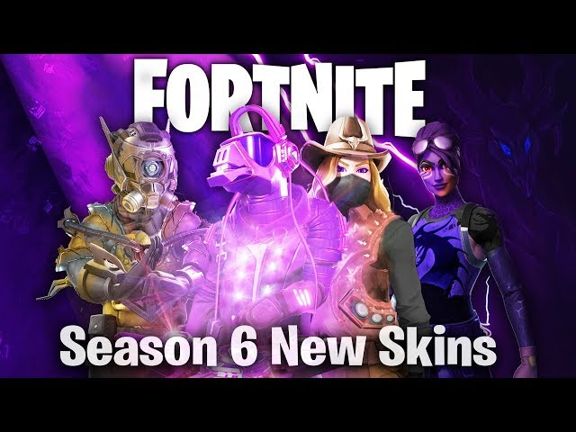 Fortnite Season 6 NEW SKINS (battle pass skins, Timelapse, DJ Llama, Cowgirl, concept idea, teaser)