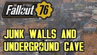Fallout 76 - Junk Walls and Underground Cave