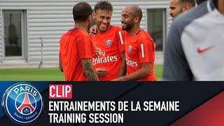 Training session - entrainements de la semaine with neymar jr, dani alves
