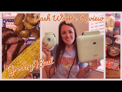 Dash Waffle Maker Review | Grocery Haul | Memorial Day Cookout | Turkey Tenderloin Recipe