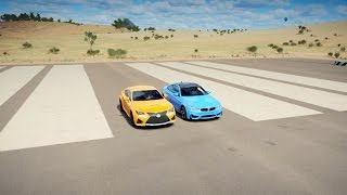 vuclip Forza Horizon 3: BMW M4 vs Lexus RC F | REMATCH Drag Race