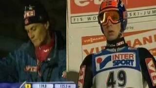 Lillehammer 2006 1 konkurs 2 seria Jernej Damjan 134m i Anders Jacobsen 142m (podpórka)